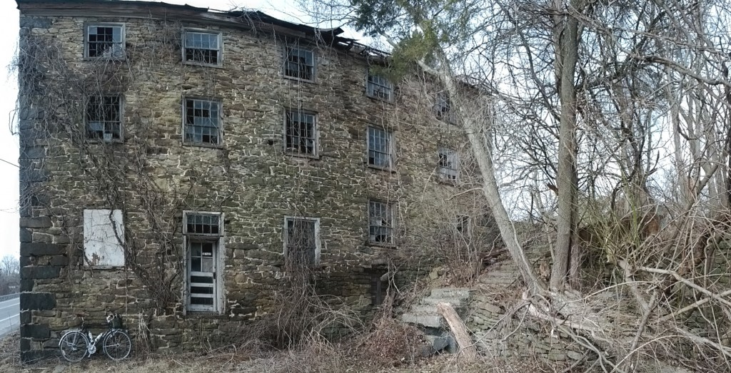 Spooky old mill. in ruins