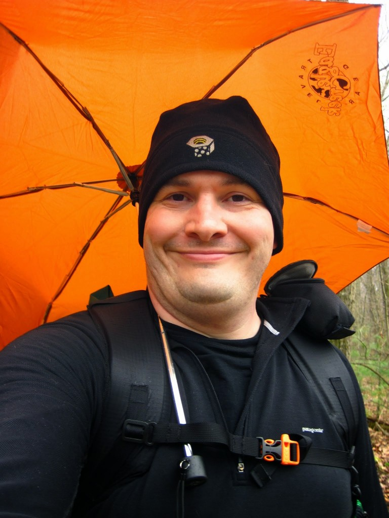 Klinutus with his Backpacking Umbrella